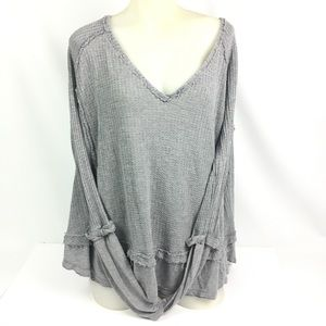 Free People We The Free Laguna Size Small Gray Top